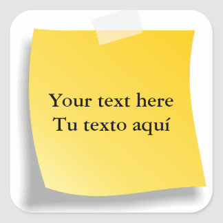 It personalizes your text square sticker