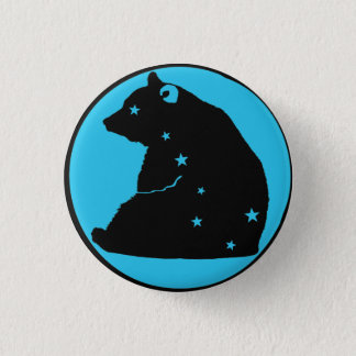 it plates blue Great Bear Pinback Button