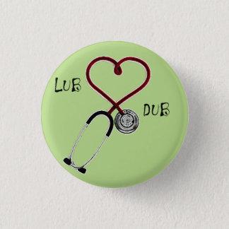 It plates Lub Dub Pinback Button