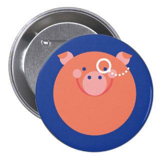It plates Minimal Pig Pinback Button