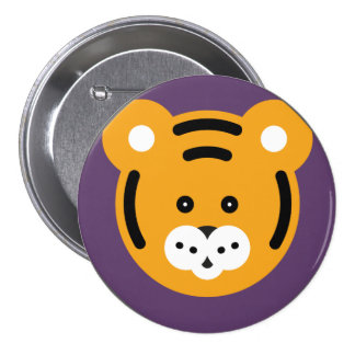 It plates Minimal Tiger Pinback Button