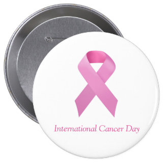 It plates/Pin Day the International of Cancer Pinback Button