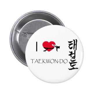it plates taekwondo pinback button