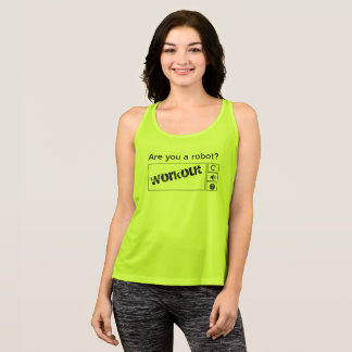 It plows you to robot? tank top