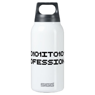 it professional binary code computer language insulated water bottle