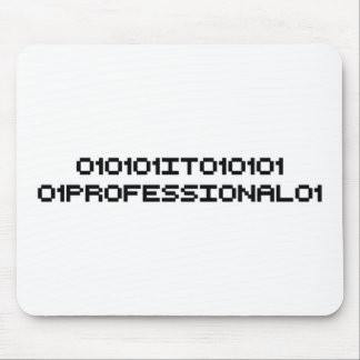 it professional binary code computer mouse pad