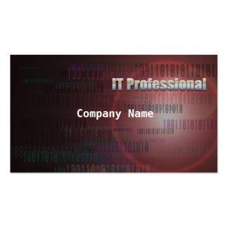 IT Professional Binary Flare Business Card