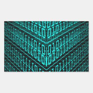 IT programmer high tech computer binary code Rectangular Sticker