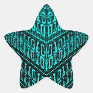 IT programmer high tech computer binary code Star Sticker