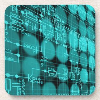 IT programmer high tech computer circuit board Beverage Coaster