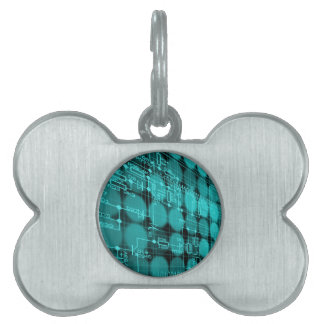IT programmer high tech computer circuit board Pet ID Tag
