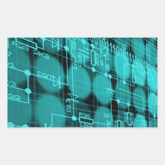 IT programmer high tech computer circuit board Rectangular Sticker