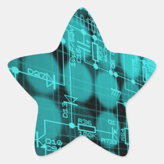 IT programmer high tech computer circuit board Star Sticker