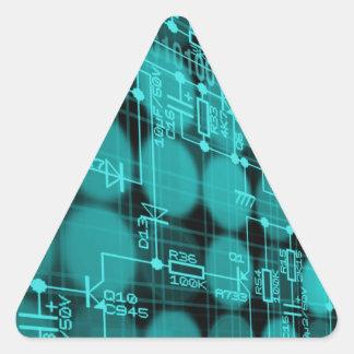 IT programmer high tech computer circuit board Triangle Sticker