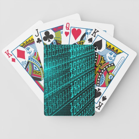 IT programming  computer binary code programmer Bicycle Playing Cards