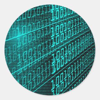 IT programming  computer binary code programmer Classic Round Sticker