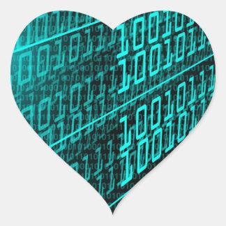 IT programming  computer binary code programmer Heart Sticker