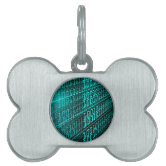 IT programming  computer binary code programmer Pet Tag