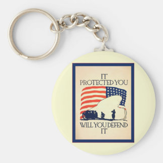 It Protected You ~ Vintage World War 1 Keychain