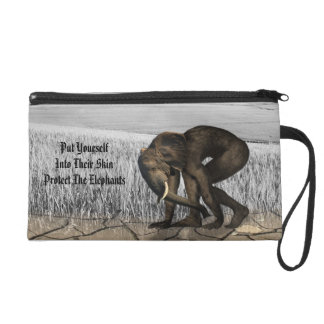It protects the elephants wristlet purse