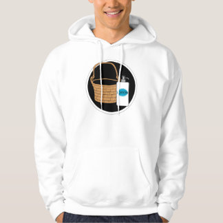 It put the lotion in the basket. hooded sweatshirts