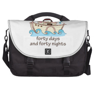 IT RAINED FORTY DAYS LAPTOP COMMUTER BAG