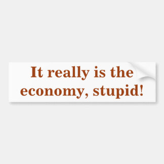It really is the economy, stupid! bumper sticker