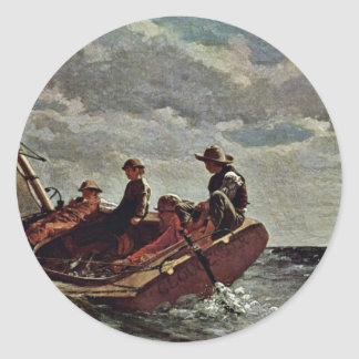 It Refreshes By Homer Winslow (Best Quality) Classic Round Sticker