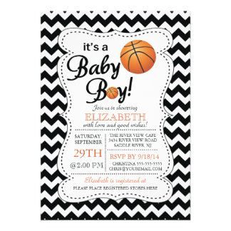 It s a Baby Boy Basketball Baby Shower Personalized Announcement