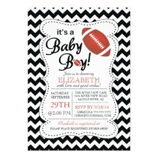 It s a Baby Boy Football Baby Shower Personalized Invites
