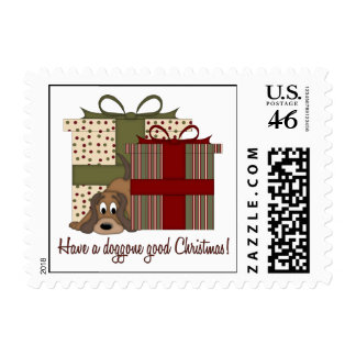 It s A Basset Hound Christmas Stamps
