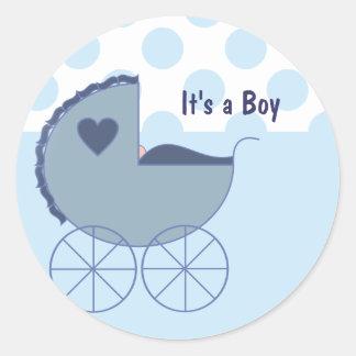 It s a Boy Blue Buggy Stickers
