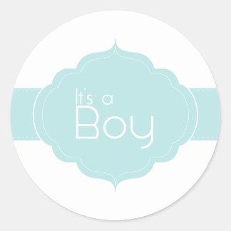 It s a Boy Cupcake Topper Sticker