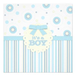 It s a Boy Pastel in Blue Stitches Baby Shower Invites