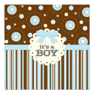 It s a Boy Pastel in Blue Stitches Baby Shower Invite