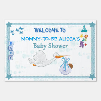 It's a Boy – Personalized Baby Shower Sign