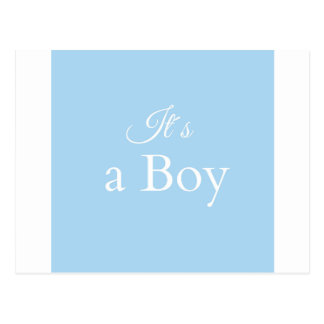 it´s a boy postcard