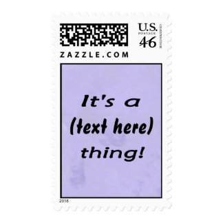 It s a custom thing Bluish mottled background Postage Stamps