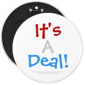 It's A Deal! Customizable White Background_6 Button