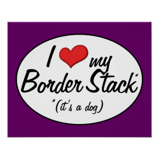 It s a Dog I Love My Border Stack Poster