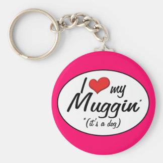 It s a Dog I Love My Muggin Keychain
