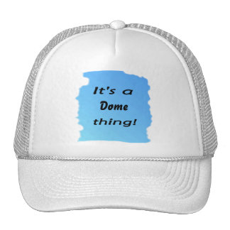 It s a dome thing mesh hat