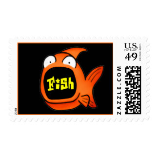 It s A Fish Postage Stamps