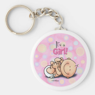 It s a Girl - Baby Congratulations Keychain