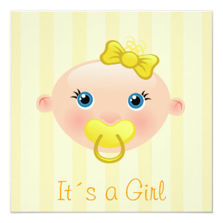 "It´s a Girl - Baby Shower Invitation 5.25"" Square Invitation Card"