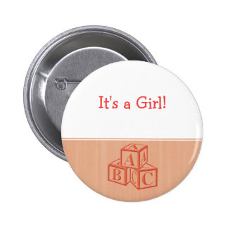 It s a Girl Pinback Buttons