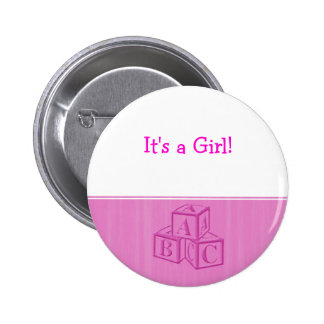 It s a Girl Button