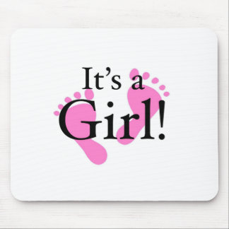 It s a Girl - Newborn Baby Baby shower Mousepad