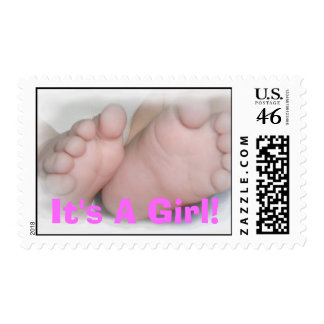 It s A Girl Postage Stamps