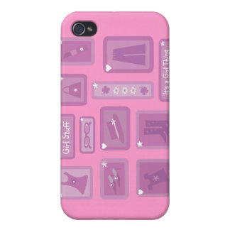 It s A Girl Thing Cartoon Clothes Accessories iPhone 4/4S Covers